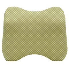 Polka Dot Yellow  Velour Head Support Cushion by TimelessDesigns