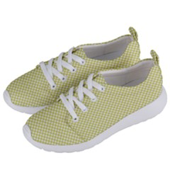 Polka Dot Yellow  Women s Lightweight Sports Shoes by TimelessFashion