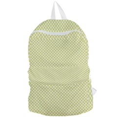 Polka Dot Yellow  Foldable Lightweight Backpack