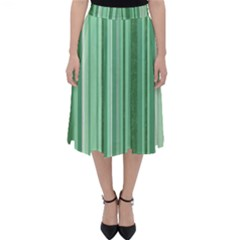 Stripes In Green Classic Midi Skirt