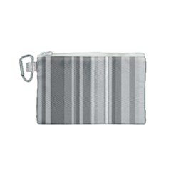Stripes In Grey Canvas Cosmetic Bag (small)