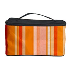 Stripes In Orange Cosmetic Storage