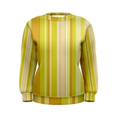 Stripes In Yellow Women s Sweatshirt