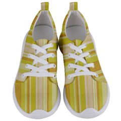 Stripes In Yellow Women s Lightweight Sports Shoes