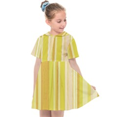 Stripes In Yellow Kids  Sailor Dress