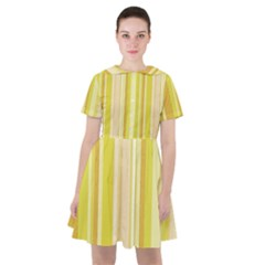 Stripes In Yellow Sailor Dress