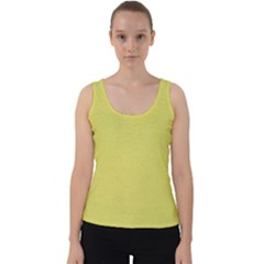 Yellow Fever Velvet Tank Top