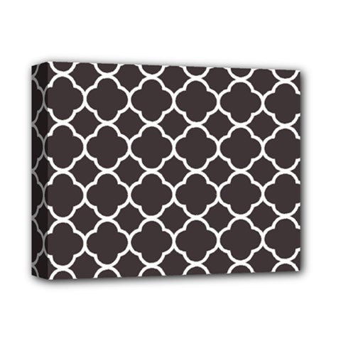 Vintage Tile Black  Deluxe Canvas 14  X 11  (stretched)