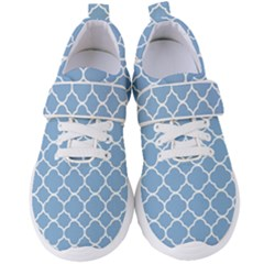 Vintage Tile Blue  Women s Velcro Strap Shoes by TimelessFashion