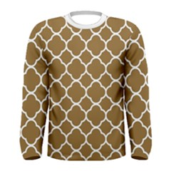 Vintage Tile Brown  Men s Long Sleeve Tee by TimelessFashion