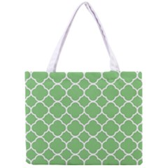 Vintage Tile Green  Mini Tote Bag