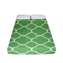 Vintage Tile Green  Fitted Sheet (full/ Double Size) by TimelessFashion