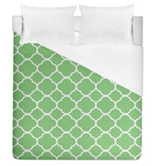 Vintage Tile Green  Duvet Cover (queen Size) by TimelessDesigns