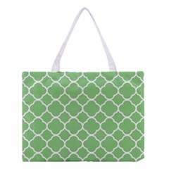 Vintage Tile Green  Medium Tote Bag