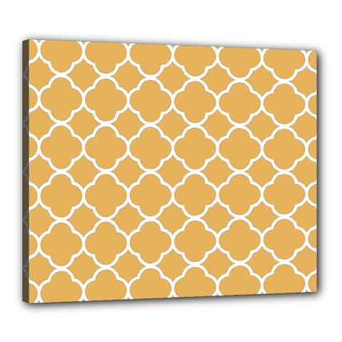 Vintage Tile Orange  Canvas 24  X 20  (stretched) by TimelessDesigns