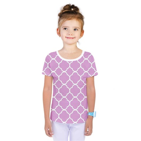 Vintage Tile Pink  Kids  One Piece Tee by TimelessFashion