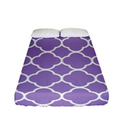Vintage Tile Purple  Fitted Sheet (full/ Double Size) by TimelessDesigns