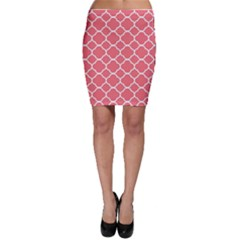 Vintage Tile Red  Bodycon Skirt