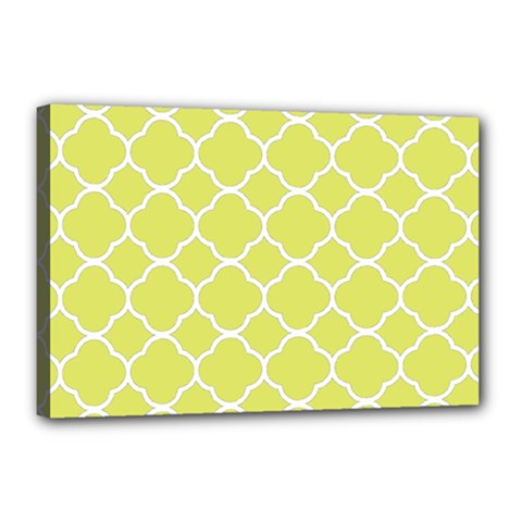 Vintage Tile Yellow  Canvas 18  X 12  (stretched)