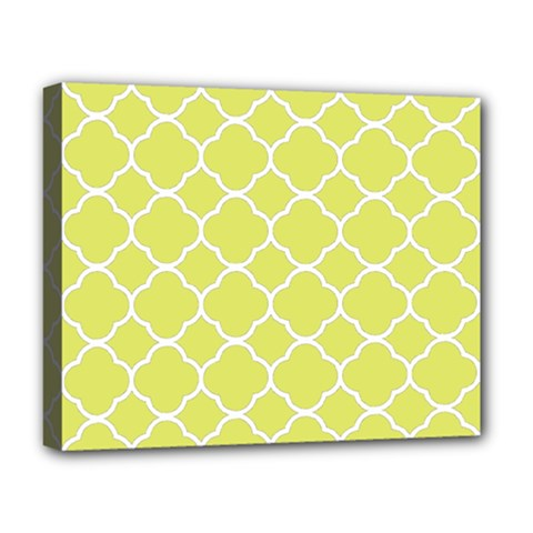 Vintage Tile Yellow  Deluxe Canvas 20  X 16  (stretched) by TimelessFashion