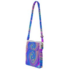 Cool Abstract Pink Blue And Yellow Twirl Liquid Art Multi Function Travel Bag