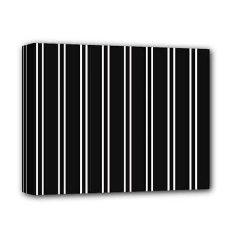 Nice Stripes Black Deluxe Canvas 14  X 11  (stretched)