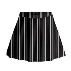 Nice Stripes Black Mini Flare Skirt by TimelessFashion
