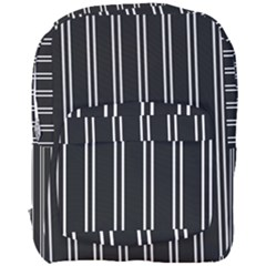 Nice Stripes Black Full Print Backpack by TimelessFashion