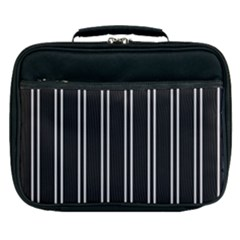 Nice Stripes Black Lunch Bag by TimelessFashion