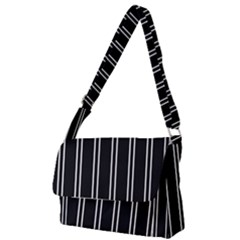 Nice Stripes Black Full Print Messenger Bag by TimelessFashion