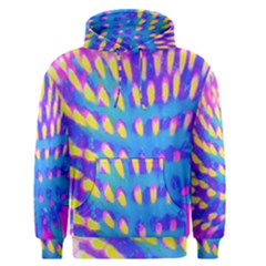 Pink, Blue And Yellow Abstract Coneflower Men s Pullover Hoodie