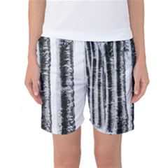 Mother Nature s Birch  Women s Basketball Shorts by WensdaiAmbrose