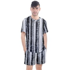 Mother Nature s Birch  Men s Mesh Tee And Shorts Set