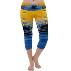 Ripples & Droplets Capri Yoga Leggings by WensdaiAddamns