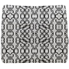 Black And White Intricate Modern Geometric Pattern Seat Cushion by dflcprintsclothing