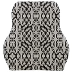 Black And White Intricate Modern Geometric Pattern Car Seat Velour Cushion  by dflcprintsclothing