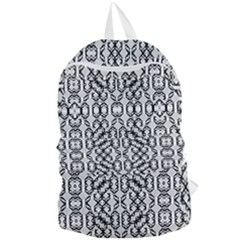 Black And White Intricate Modern Geometric Pattern Foldable Lightweight Backpack by dflcprintsclothing