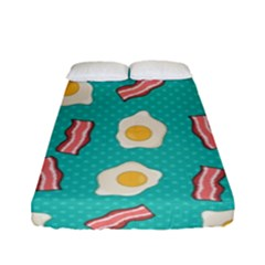 Bacon And Egg Pop Art Pattern Fitted Sheet (full/ Double Size)