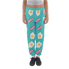 Bacon And Egg Pop Art Pattern Women s Jogger Sweatpants