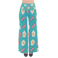Bacon And Egg Pop Art Pattern So Vintage Palazzo Pants