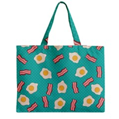 Bacon And Egg Pop Art Pattern Medium Tote Bag