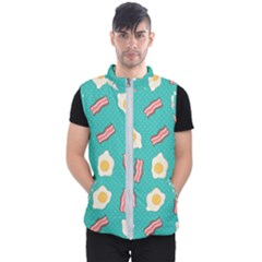 Bacon And Egg Pop Art Pattern Men s Puffer Vest