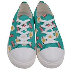 Bacon And Egg Pop Art Pattern Women s Low Top Canvas Sneakers