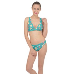 Bacon And Egg Pop Art Pattern Classic Banded Bikini Set