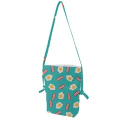 Bacon And Egg Pop Art Pattern Folding Shoulder Bag