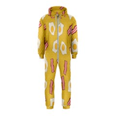 Bacon And Egg Pop Art Pattern Hooded Jumpsuit (kids)