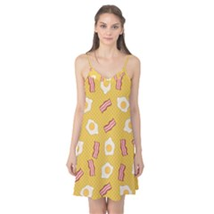 Bacon And Egg Pop Art Pattern Camis Nightgown