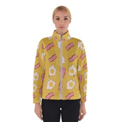 Bacon And Egg Pop Art Pattern Winter Jacket
