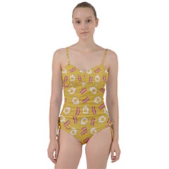 Bacon And Egg Pop Art Pattern Sweetheart Tankini Set