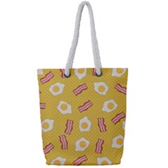 Bacon And Egg Pop Art Pattern Full Print Rope Handle Tote (small)